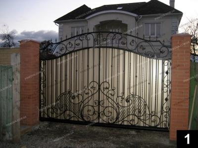 Откатні ворота ковані