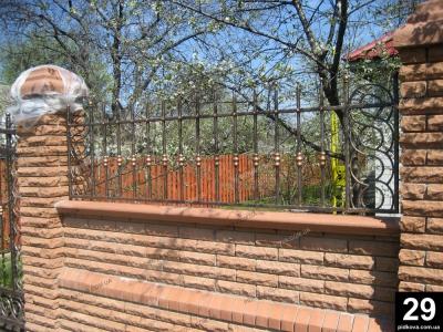 Кована огорожа Черкассы. Кованный забор ограждение Черкассы