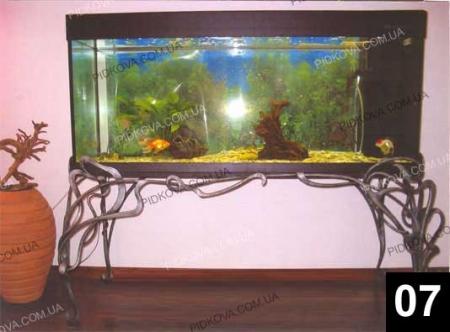 столик для аквариума, столик для акваріума, кований столик, кованый столик, столик кованный